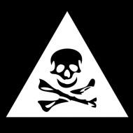 Smešna majica znak za nevarnost