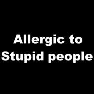 Smešna majica allergic to stupid people