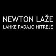 Smešna majica newton laže lahke padajo hitreje