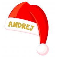 Božična kapa z imenom po želji