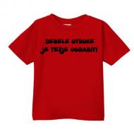 Smešna otroška majica debele otroke je težje ugrabiti