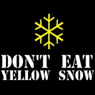 Smešna majica dont eat yellow snow