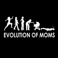 Smešna majica evolution of moms