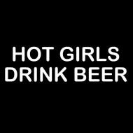 Smešna majica hot girls drink beer