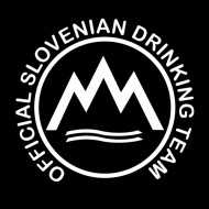 Smešna majica official slovenian drinking team
