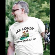 Smešna majica jaz lovim - ribič