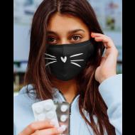 Obrazna maska mačji brki srček