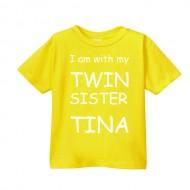 Smešna otroška majica I love my twin sister IME PO ŽELJI
