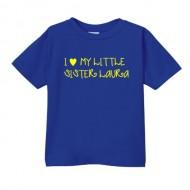 Smešna otroška majica I love my little sister IME PO ŽELJI