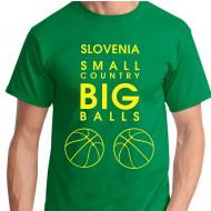 Košarkarska majica Slovenia small country big balls