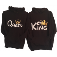 Pulover KOMPLET King Queen - dvobarvno