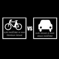 Smešna majica manj avta več kolesa