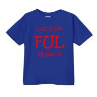 Smešna otroška majica lacn sm ful dlgacn