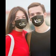 Obrazni maski King & Queen - 2 kom