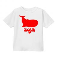 Smešna otroška majica kit IME PO ŽELJI