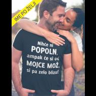 Smešna majica popoln MOŽ (ime žene po želji)