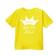 Smešna otroška majica princ IME PO ŽELJI