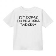 Smešna otroška majica sem dokaz da moj očka rad sexa
