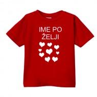 Smešna otroška majica srčki IME PO ŽELJI