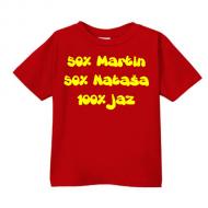 Smešna otroška majica starši IME PO ŽELJI