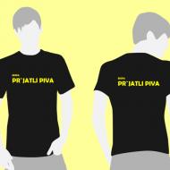 Tri majice za tek trojk z IMENOM EKIPE PO ŽELJI