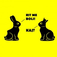 Smešna majica velikonočni zajčki