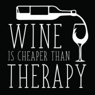 Smešna majica Wine is cheaper than therapy