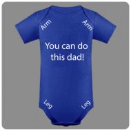 Otroški bodi you can do this daddy