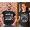 Smešna majica Vsi moški / ženske so ustvarjeni enako (POKLIC PO ŽELJI)